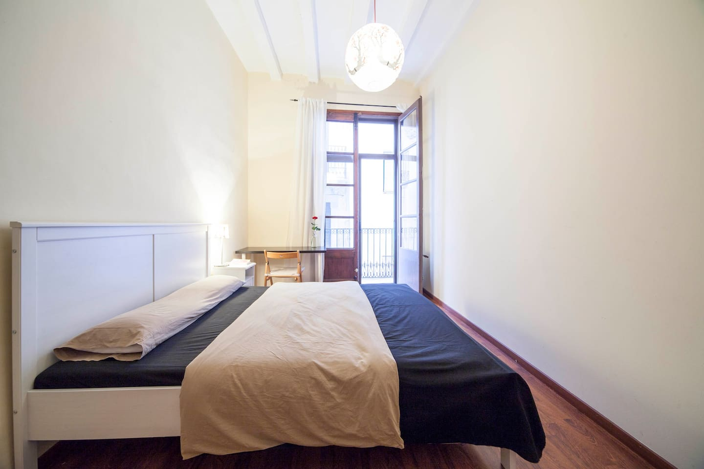 Spacious room with private balcony