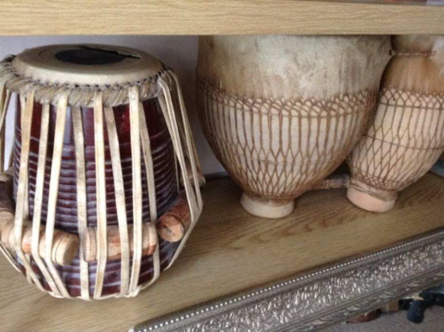 Some drums from India and Morocco