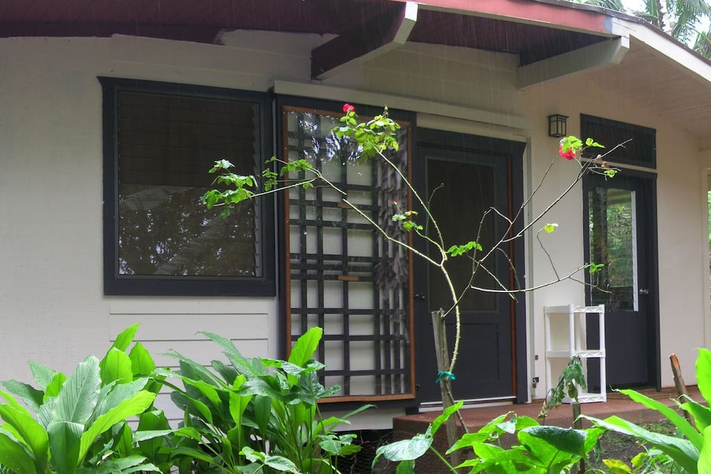 entry viewed from garden