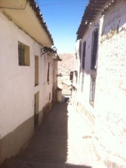 Nuestro calle en San Blas, Cusco, Peru