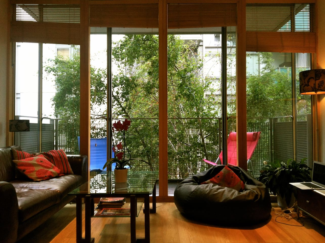 Bright Living Room with Big Balcony