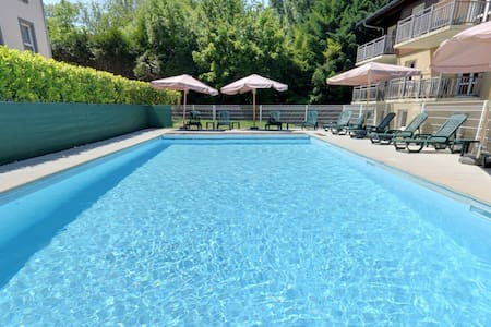 With swimming pool at the edge of the Evian's golf - Évian-les-Bains
