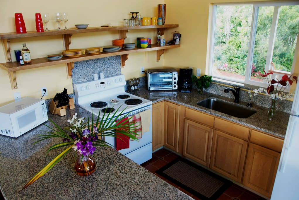 Our kitchen is fully equipped for cooking fabulous meals