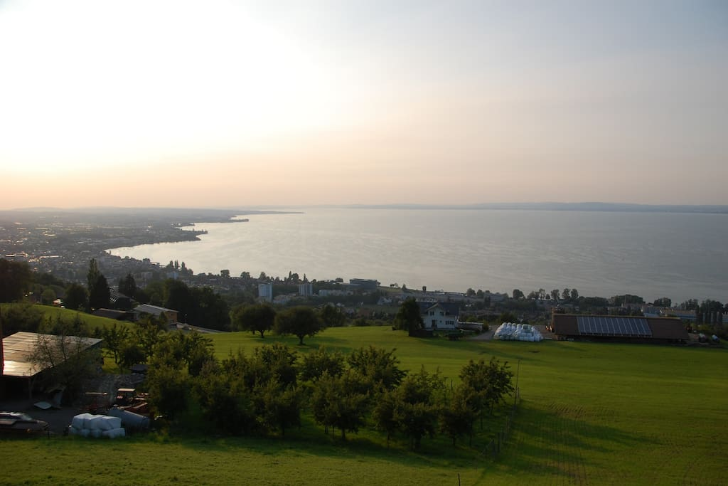 View of Lake Constance from above our house, about a 5 minute drive away.