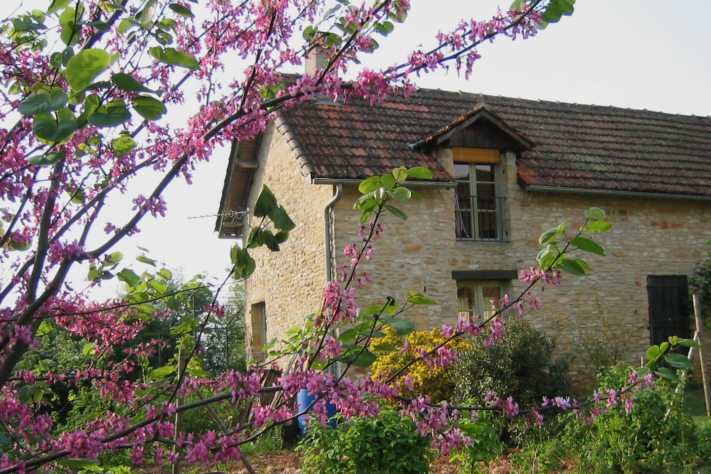 old and charming house of farm