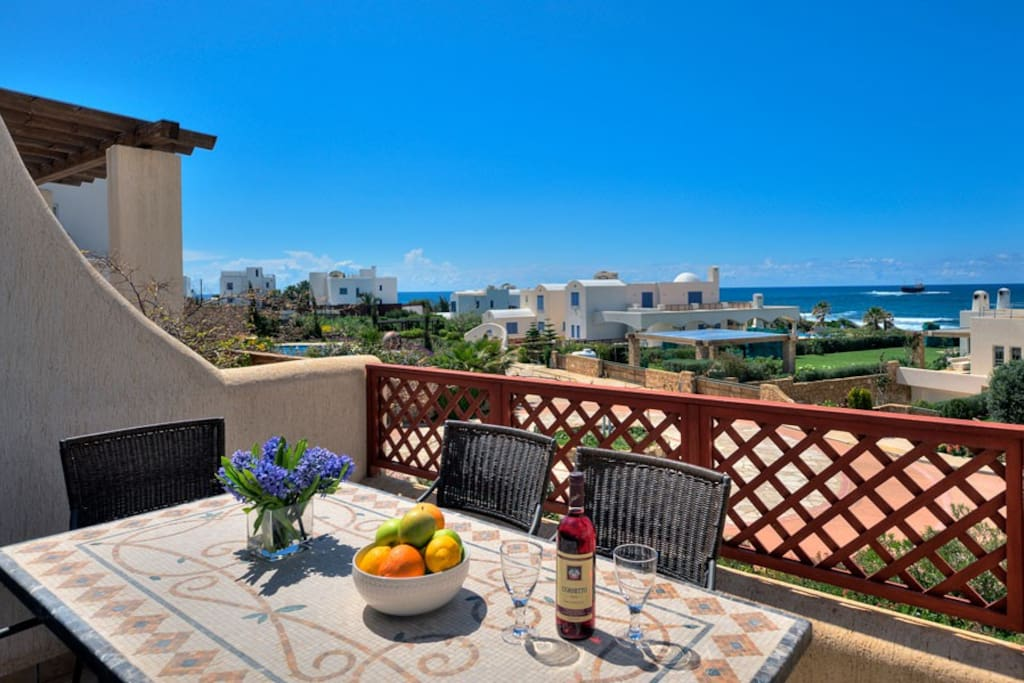 Enjoy alfresco dining whilst looking out to sea and cooking fresh local food on the double BBQ.