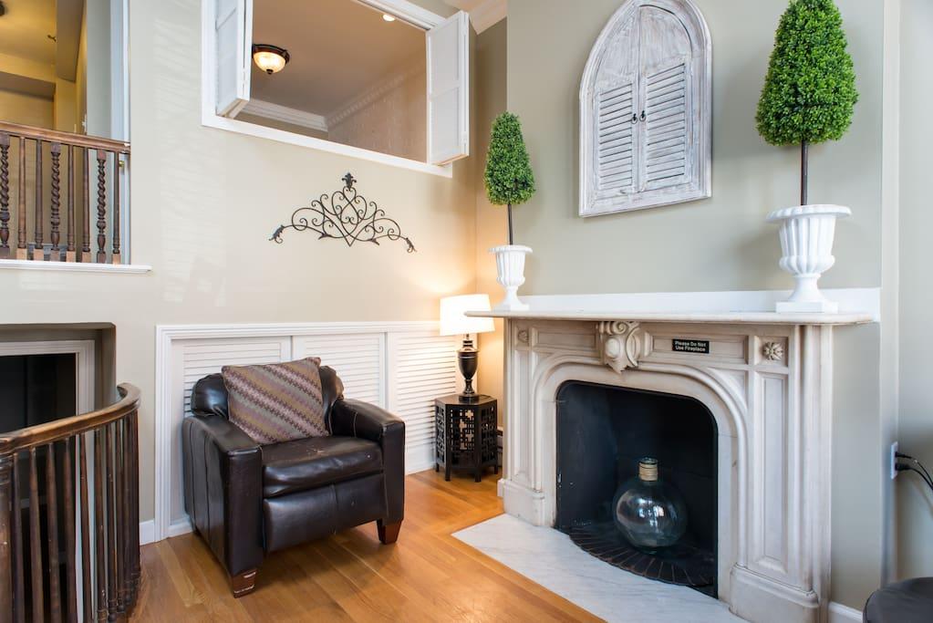 Unit 1F -  Decorative Fireplace