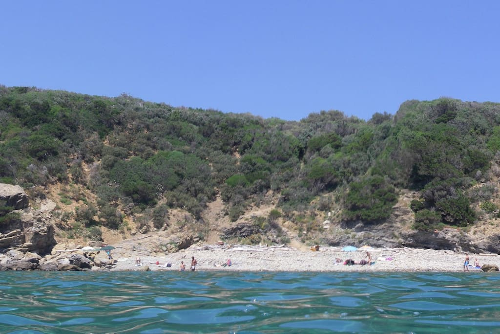 Beautiful secluded beach only a 5-minute walk from our house