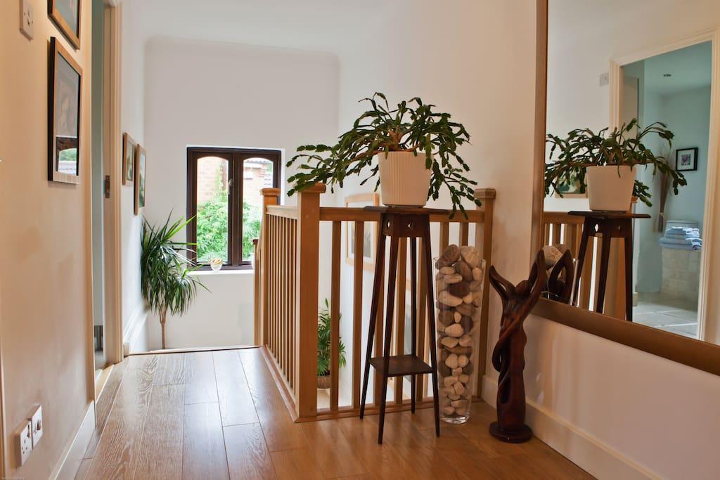 Light spacious upper hallway