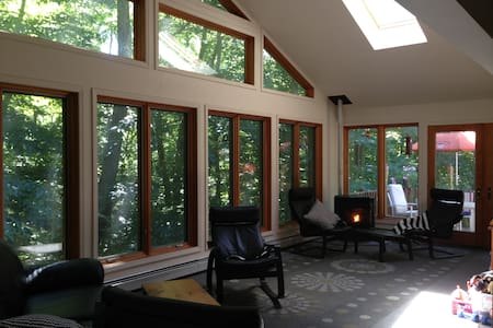 Forest view from 3BD Catskills home - House