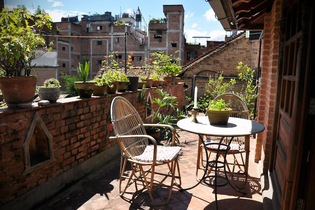 Your own roof terrace space just outside the room...
