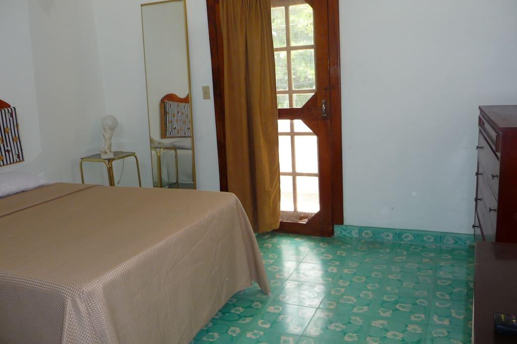 upstairs apartment with front door open