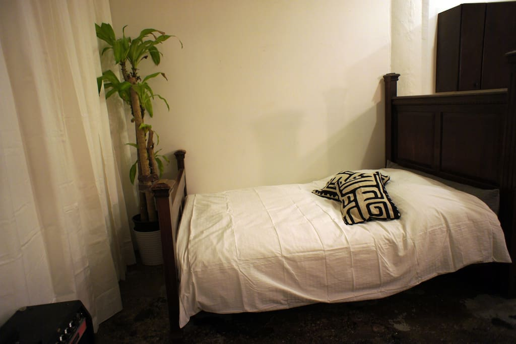 Here is the very comfortable BED for sleeping in after a hard night on the town.