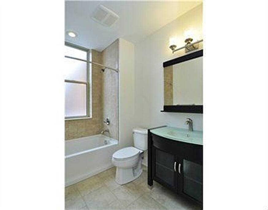 Bath will be private for your visit and is just a few steps down the hall.