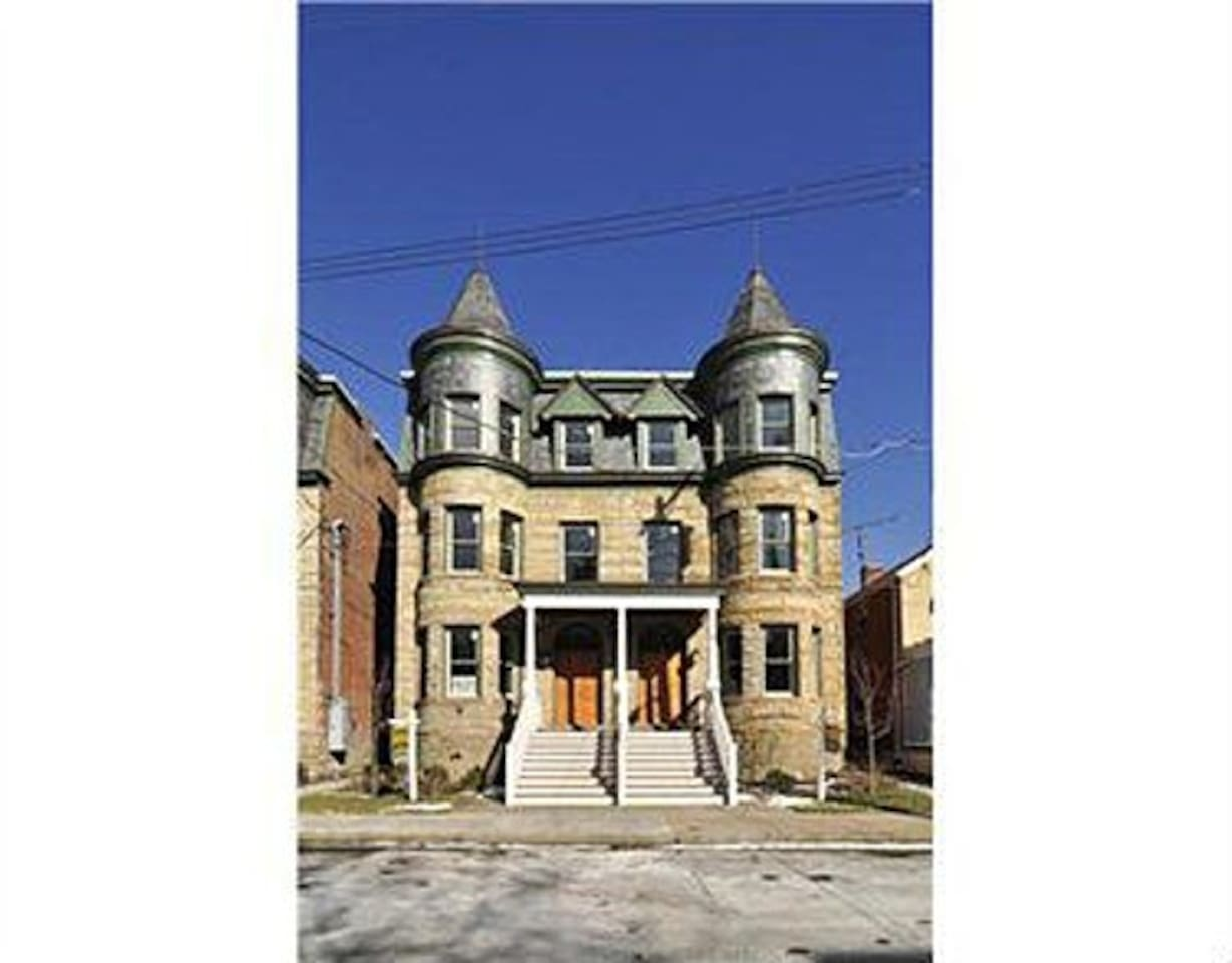 Recently renovated brownstone in East Liberty.