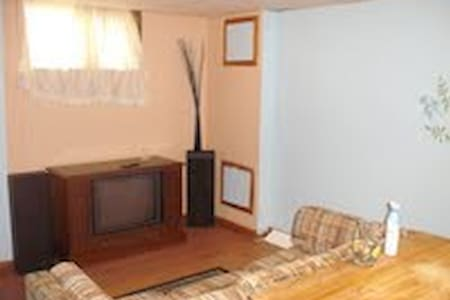 2 Bed Sunny Basement Apt- Private