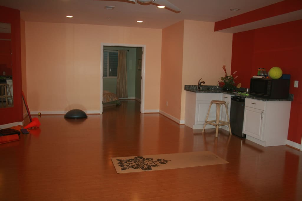 We use this room mainly as gym which you are welcome to use as well