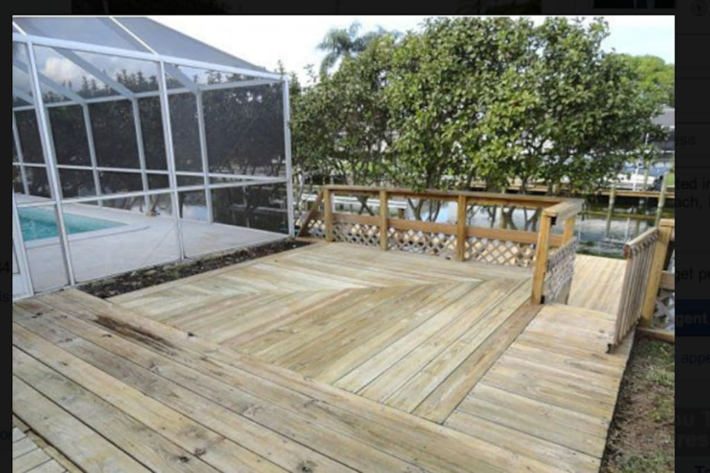 Deck overlooking the canal
