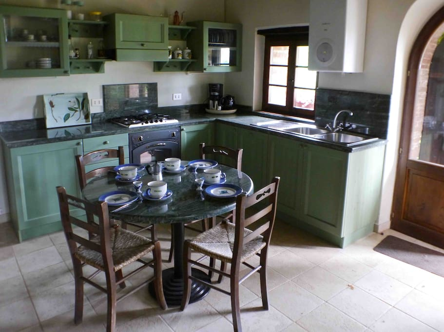 Beautiful kitchen with dining place