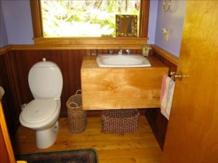 Upstairs half bath located right next to your room.