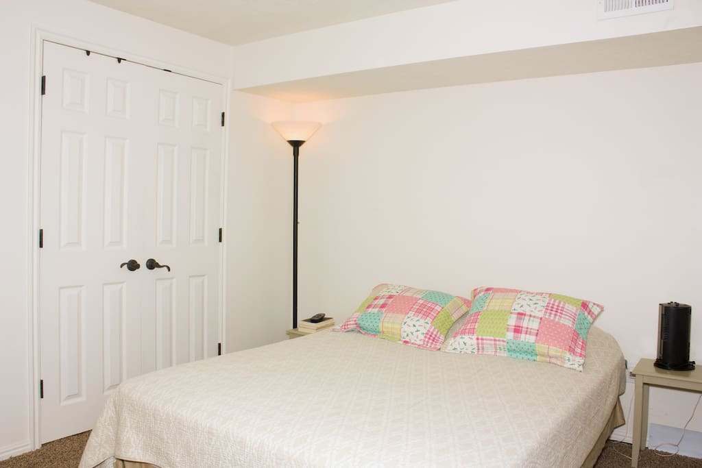 The guest room. Door is your closet with lots of space.