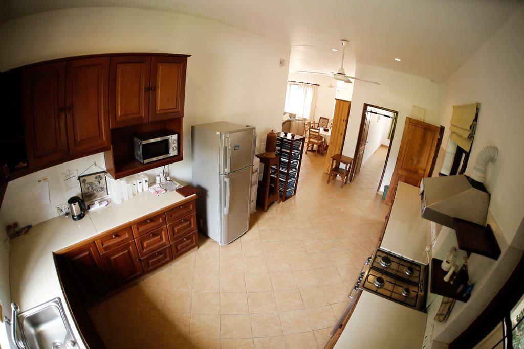 Open floor kitchen with all amenities