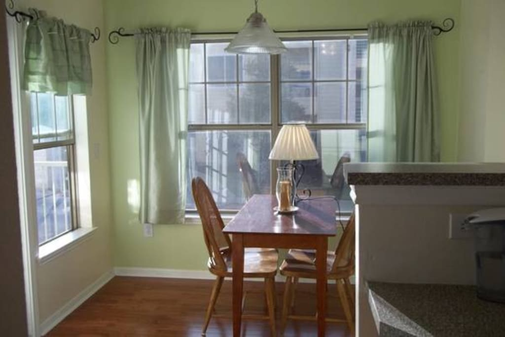 Natural light flows through the dining area!