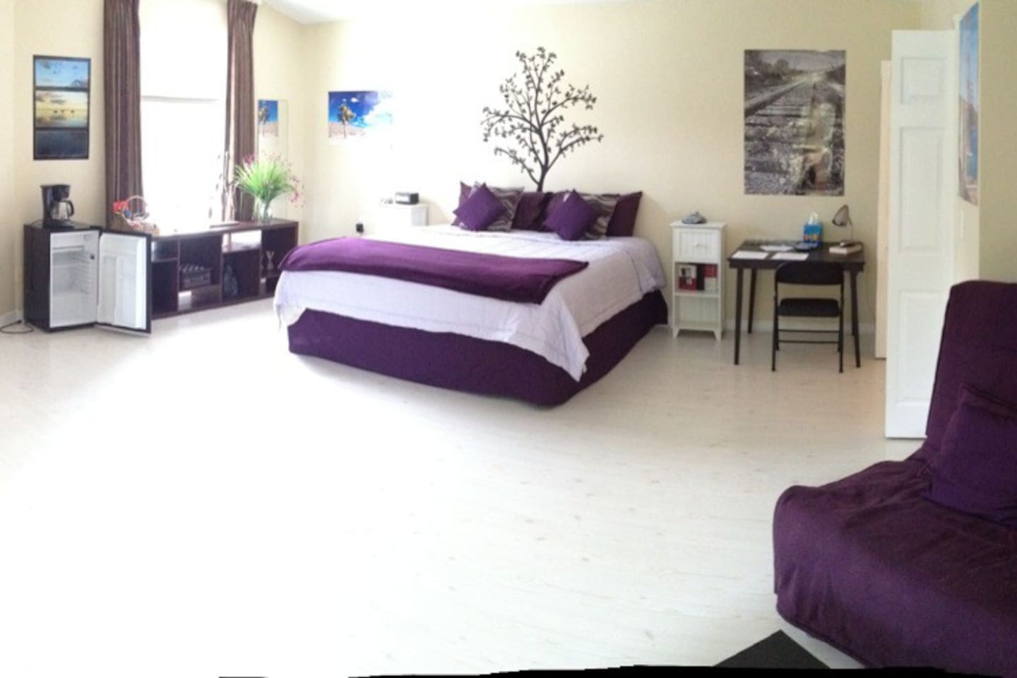 Panorama picture of the 600 sqft mother-in-law suite