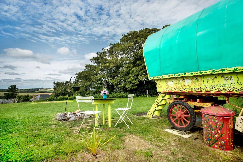Rosie Gypsy Wagon Cornwall