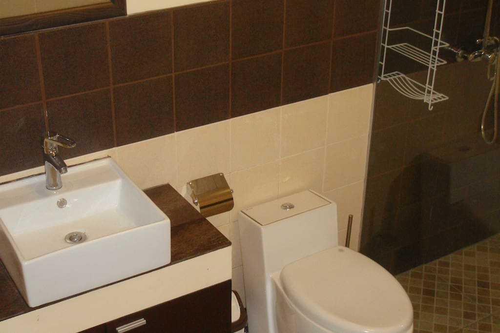 2nd CR with shower wash basin and toilet.