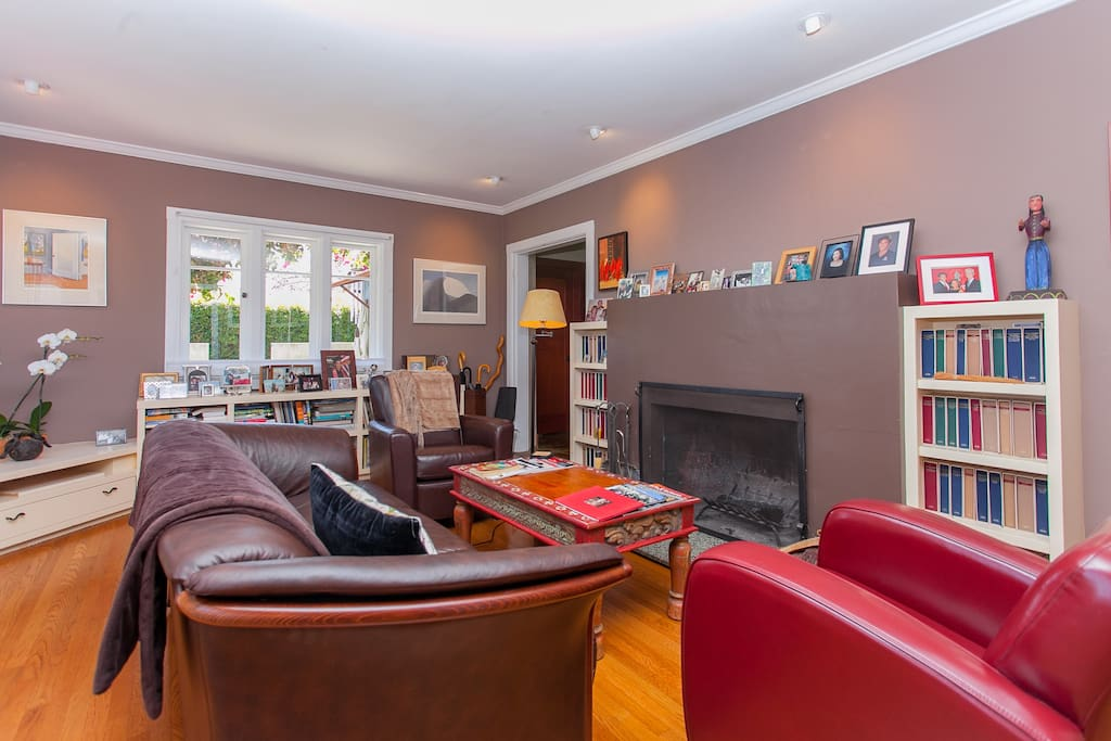 You have complete access to the living room where you can read, have a cocktail or decide to have a fire.