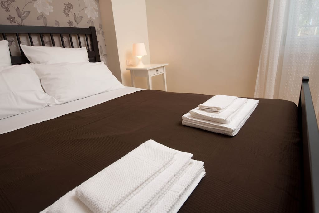 each guest can enjoy two pillows and three towels!