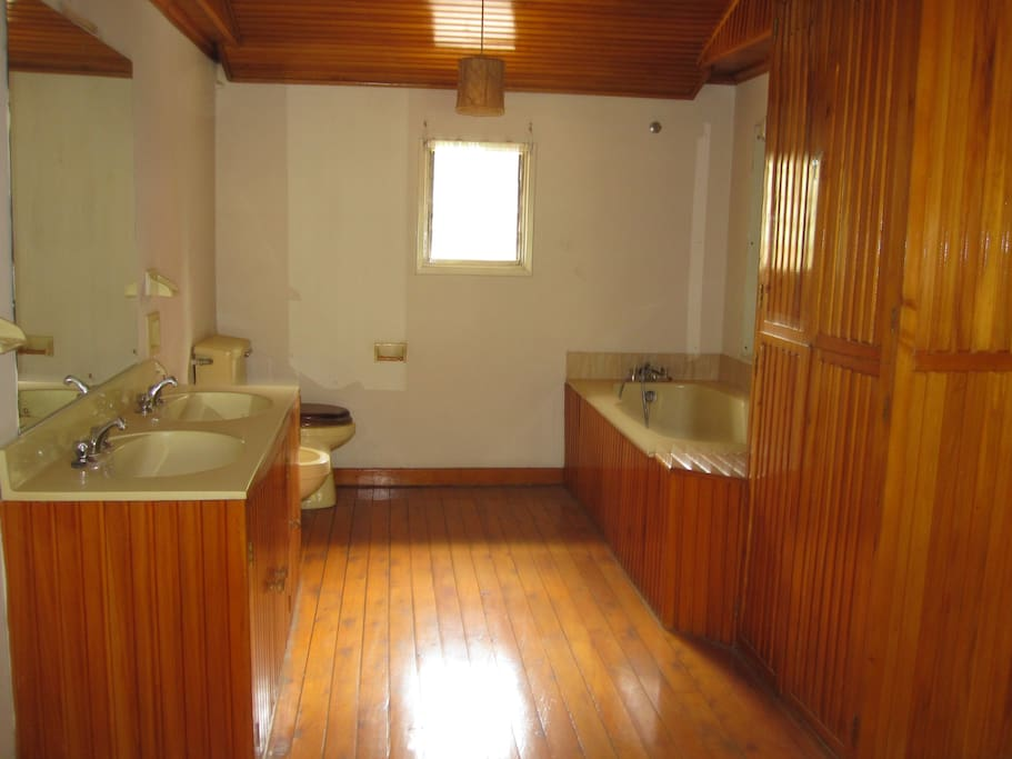 Spacious bathroom ..