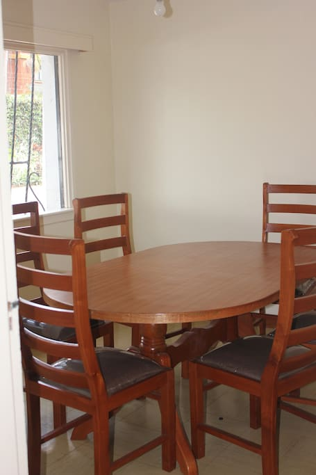 Comfortable 6-pax dining area . Large window