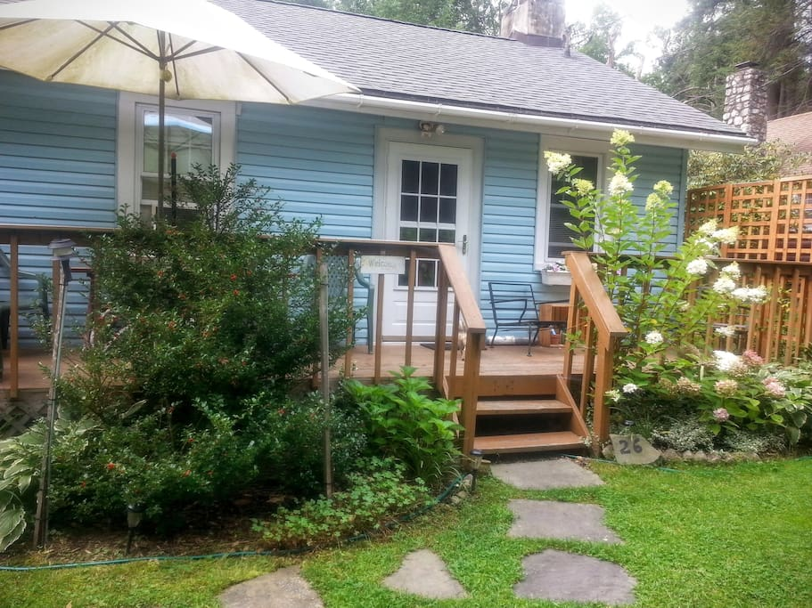 Charming Cozy Cottage Garden mid to late summer.