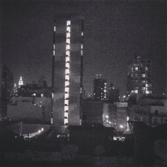 View from the rooftop at night