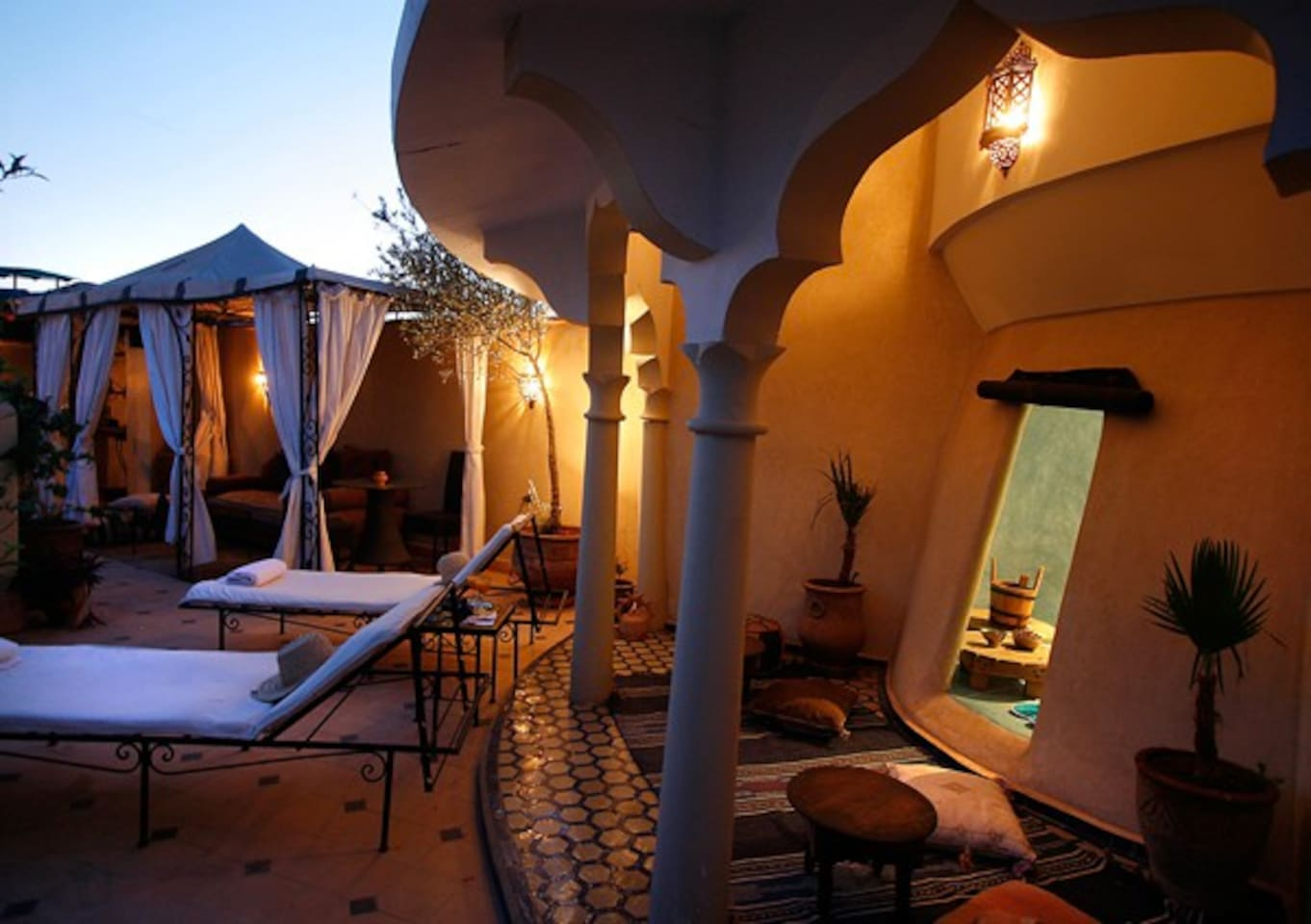 Riad's Terrace with the hammam