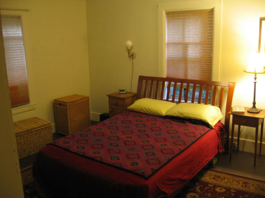 Bedroom 1, with a plush Queen mattress