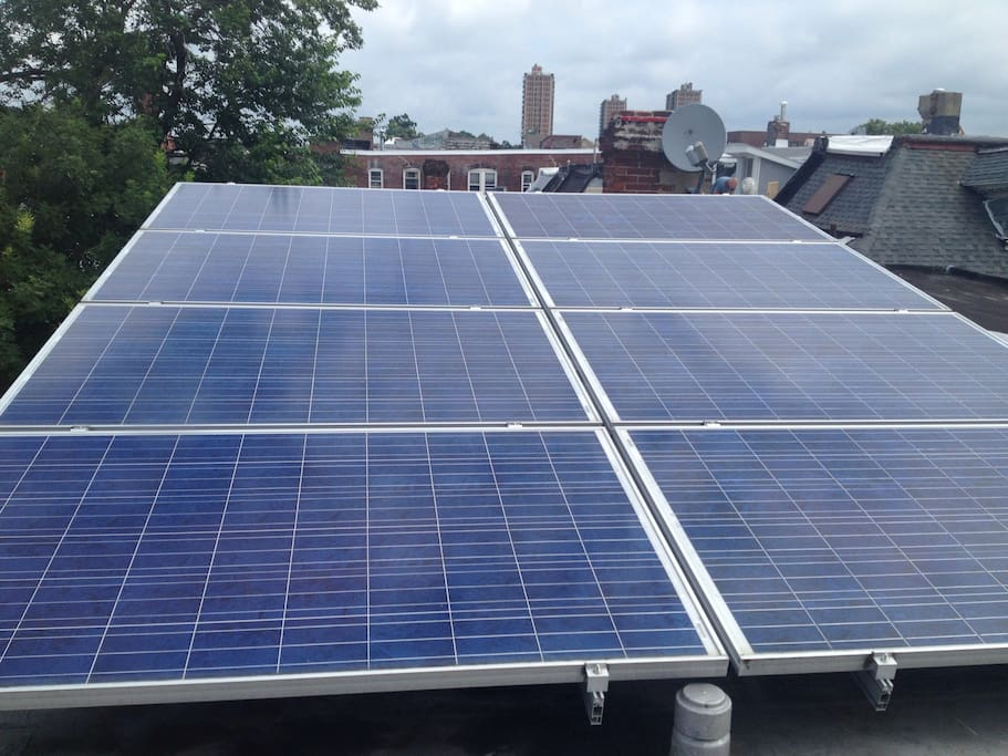 Solar panels that generate almost half of our energy