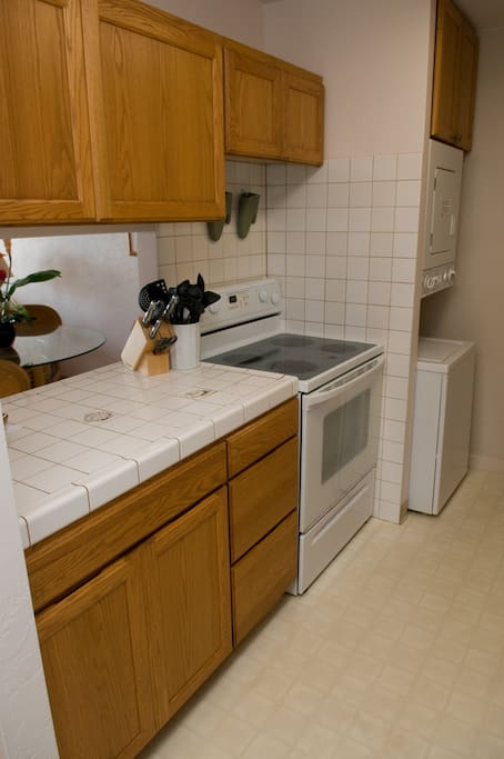 Kitchen with new washer/dryer combo...Everything you need!