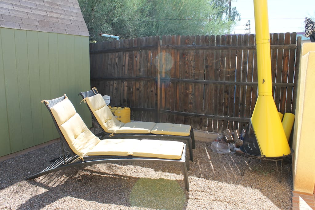 Loungers to soak up the warm Arizona sun or curl up before the fire.