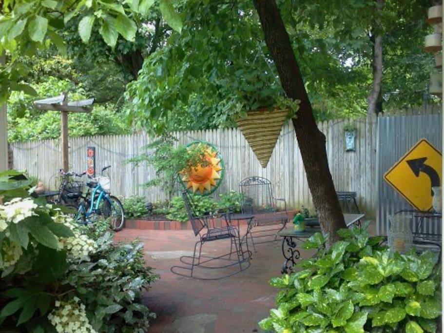 A peek into the back garden