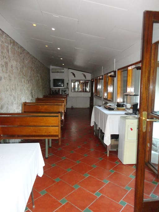 Huge common cooking/dining area.