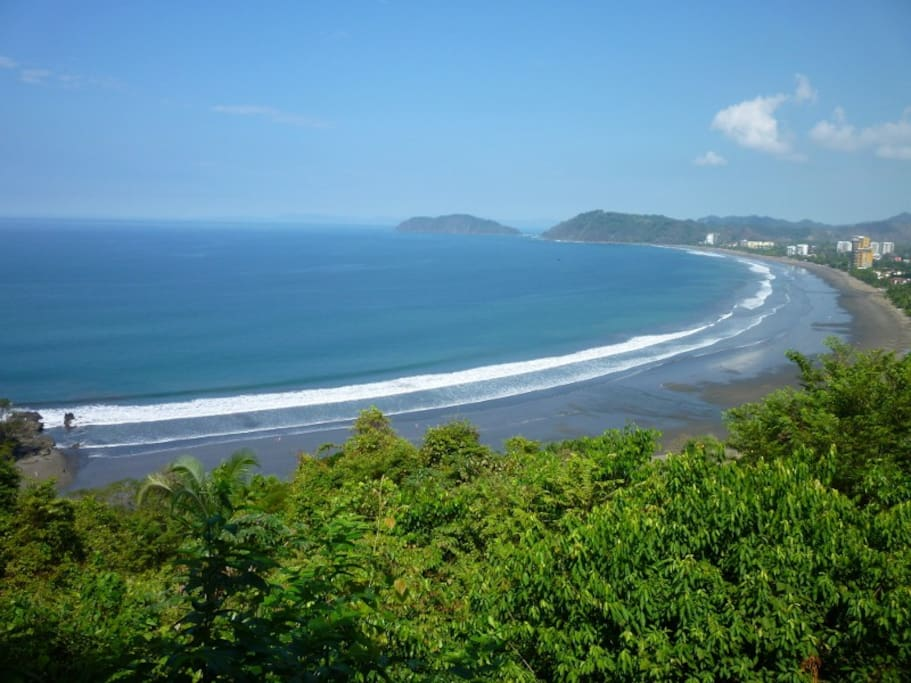 Jaco Beach, viewing point from the Miro's Mountain.