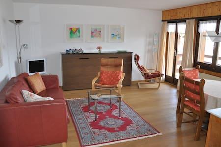 Sehr schöne Wohnung La Tzoumaz / Wallis / Schweiz - Riddes - Apartment