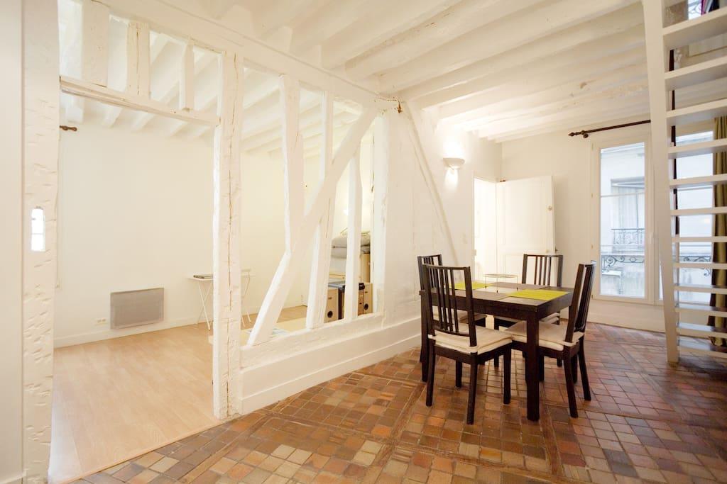 Duplex 50m²- 2bathroom heart Marais