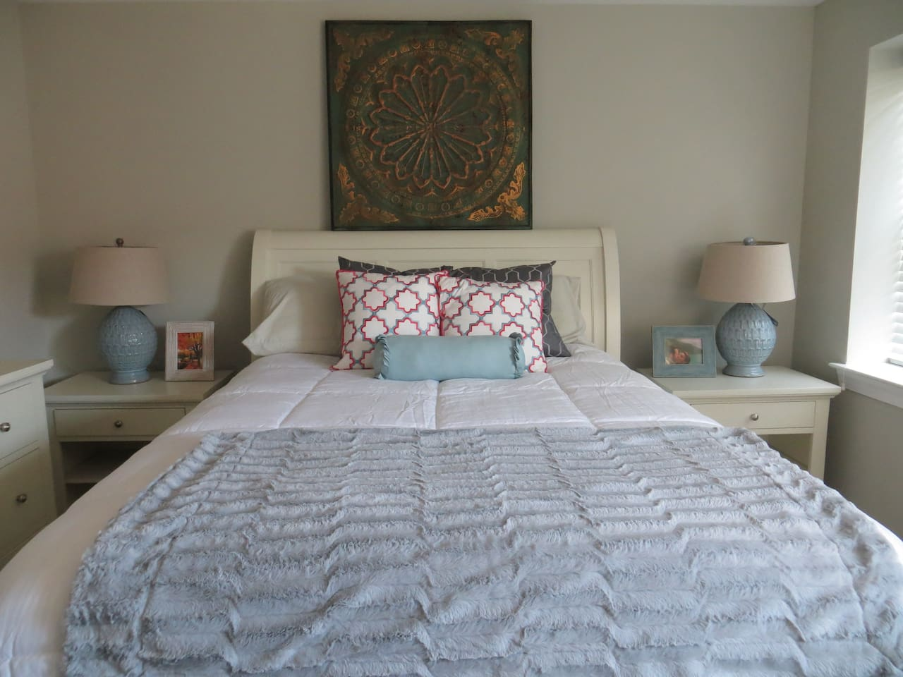 Our home was completely renovated. Master bedroom is the most comfortable place to relax after a day around Philly.
