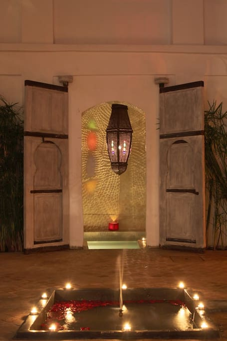 Entrance to the Jacuzzi