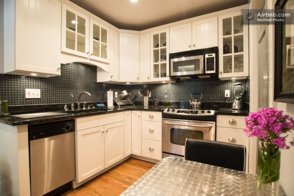 Kitchen with Granite Counters, Stainless Steel