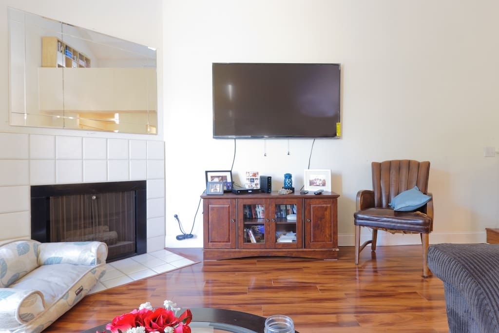 60 inch High Definition TV with Cable and Wi-Fi for all to use.